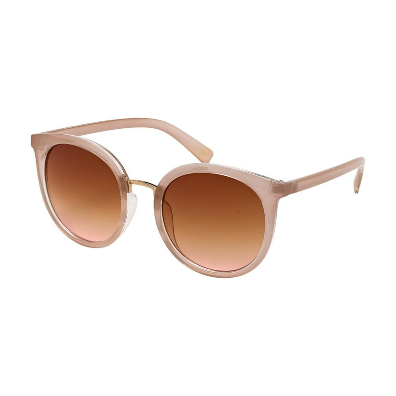 milky beige cat eye sunglasses