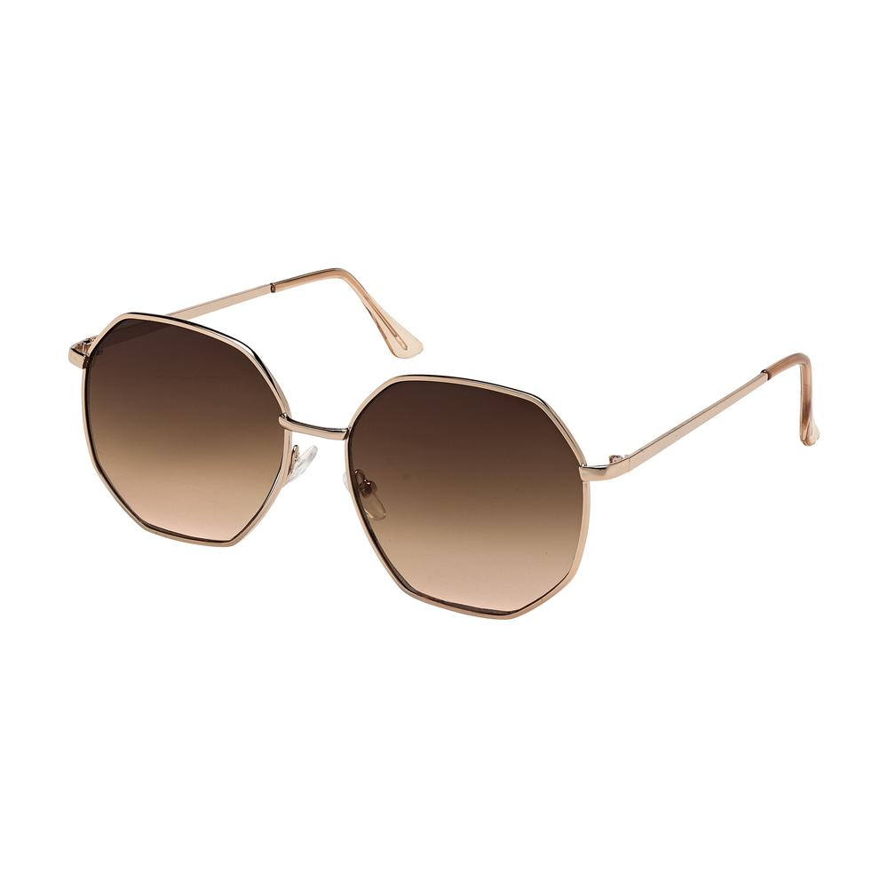 gold frame octagon sunglasses