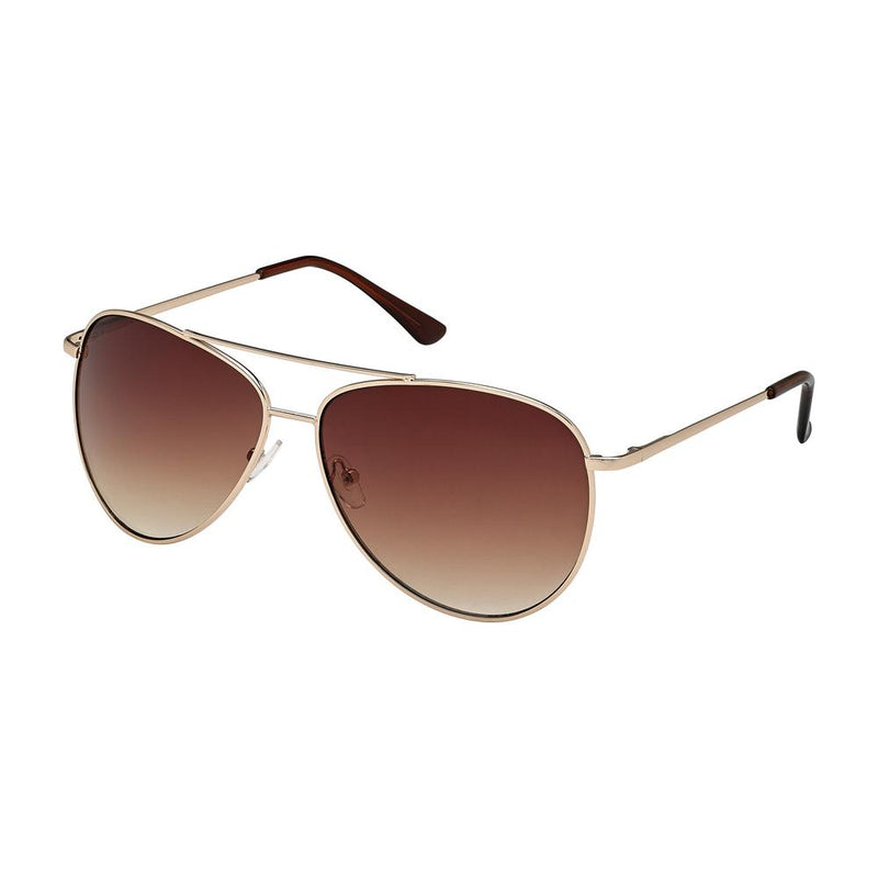 Gold frame aviator sunglasses