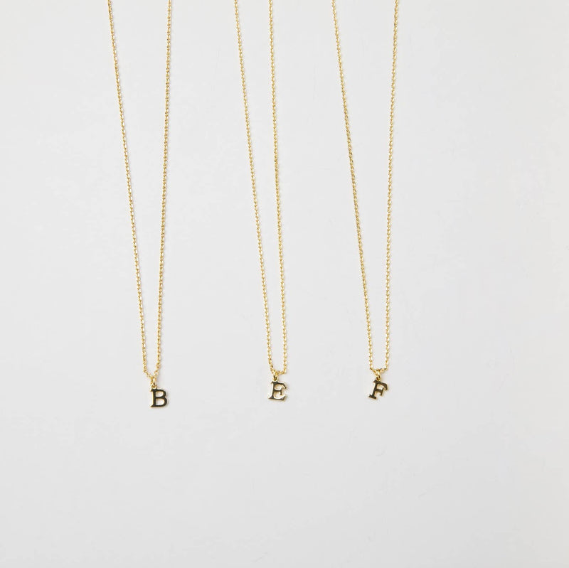 Dainty Love Initial Necklace
