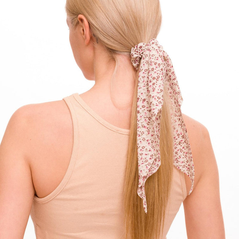hair scarf scrunchie (floral)