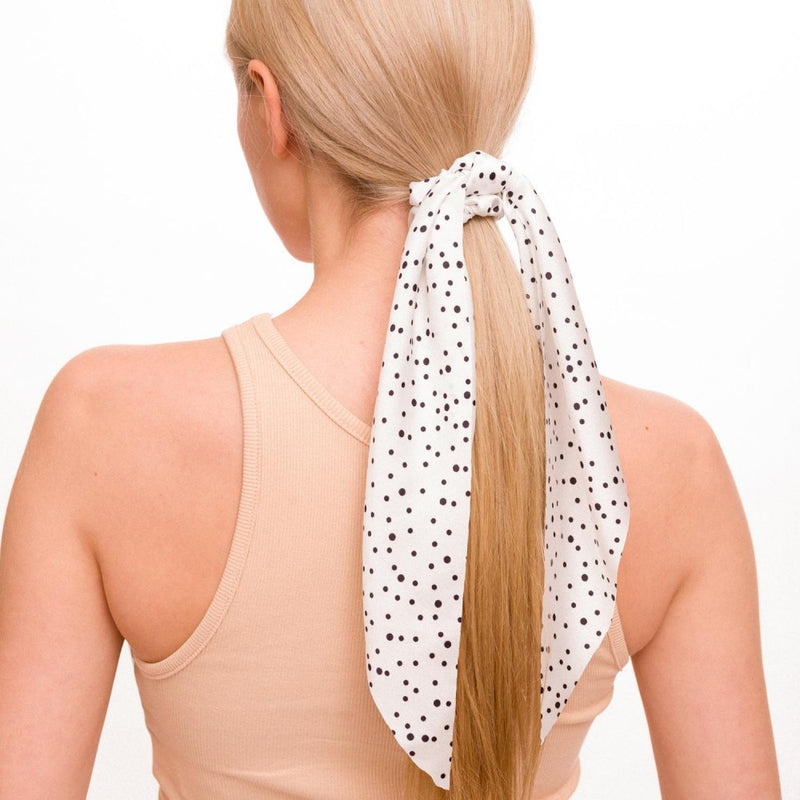 hair scarf scrunchie (white)
