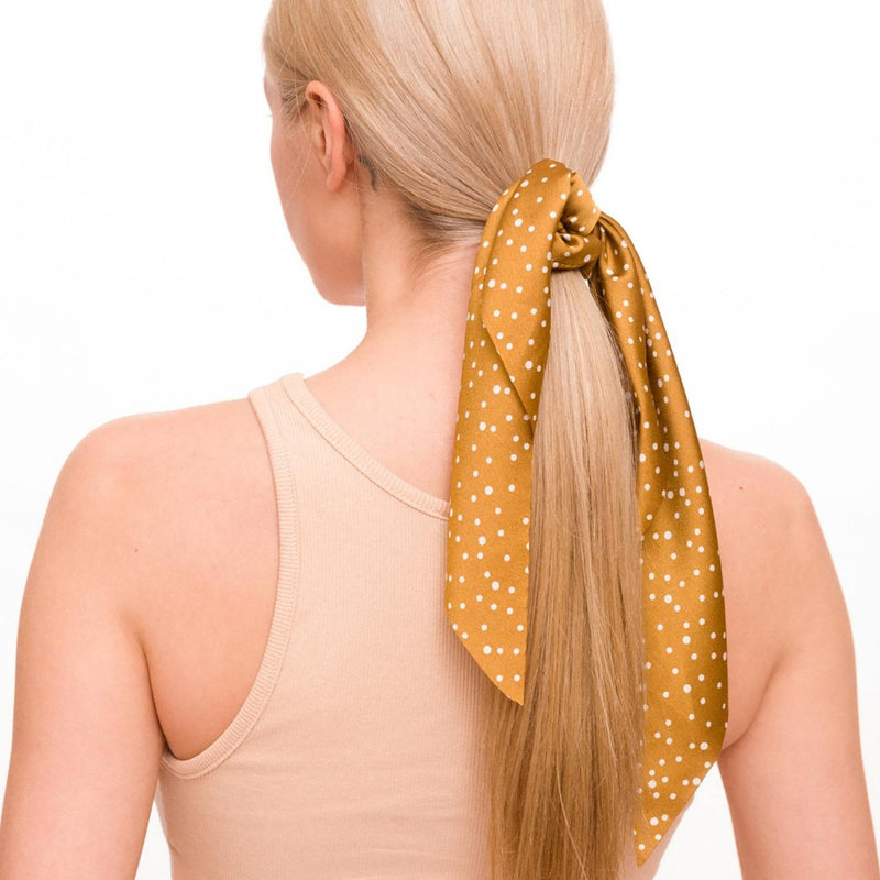 hair scarf scrunchie (mustard)