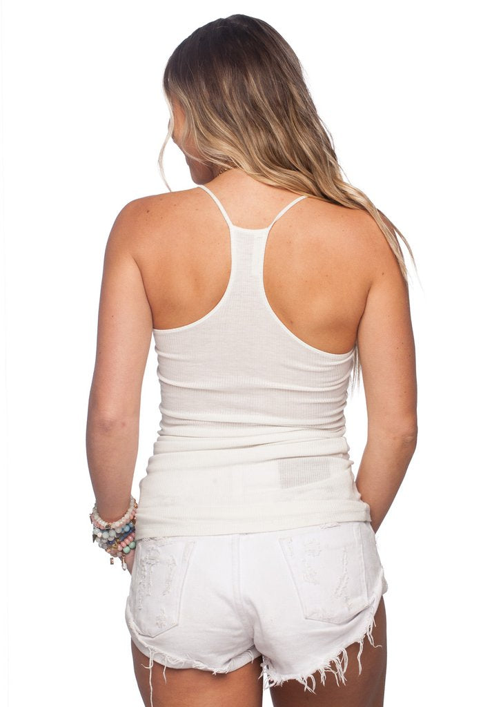 buddy love ribbed cami (ivory)