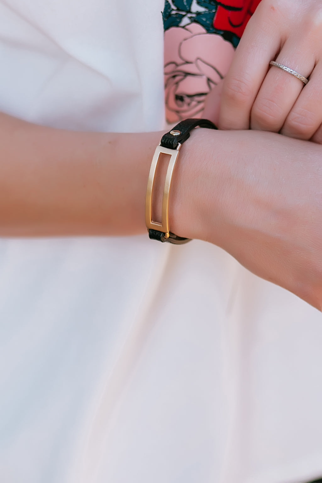 leather band bracelet - Marcella