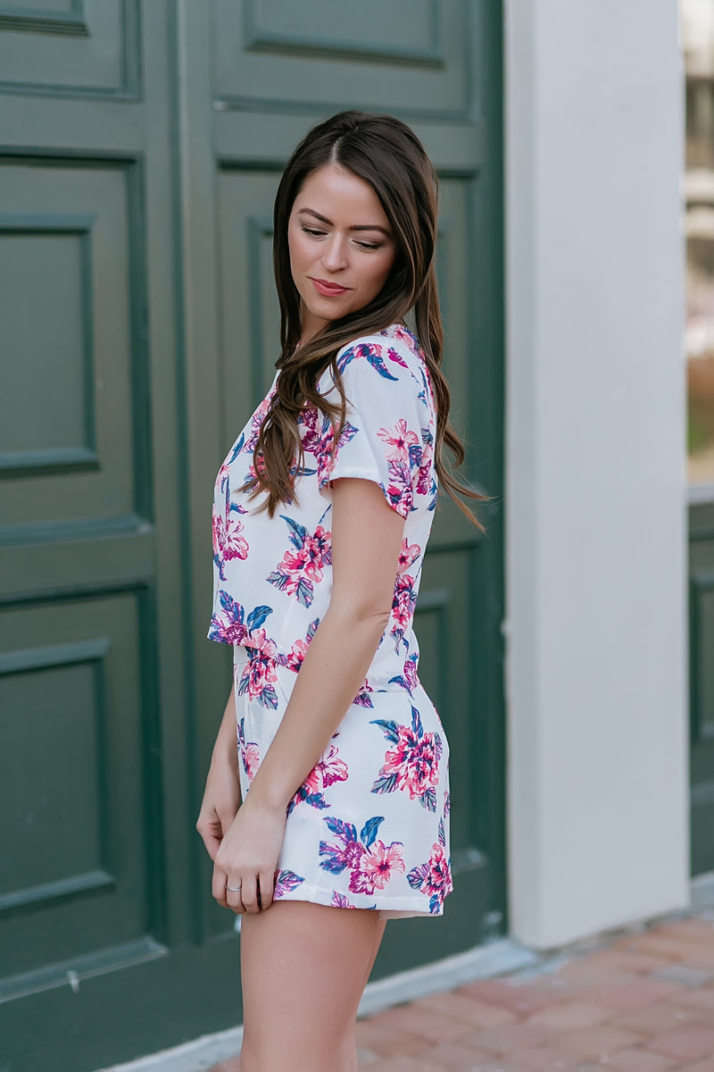 carpe diem two piece set (flirty floral) - Marcella
