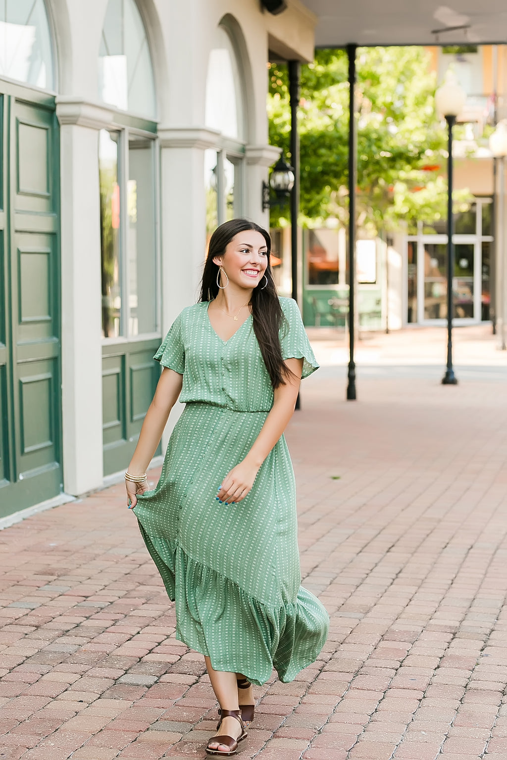 sweet caroline high low maxi