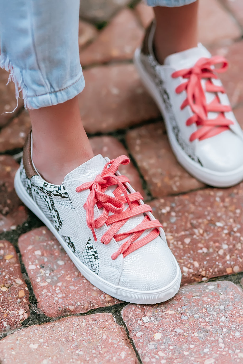color pop snake print sneakers