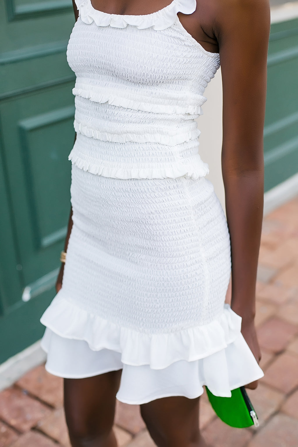 Flawless fit smocked skirt