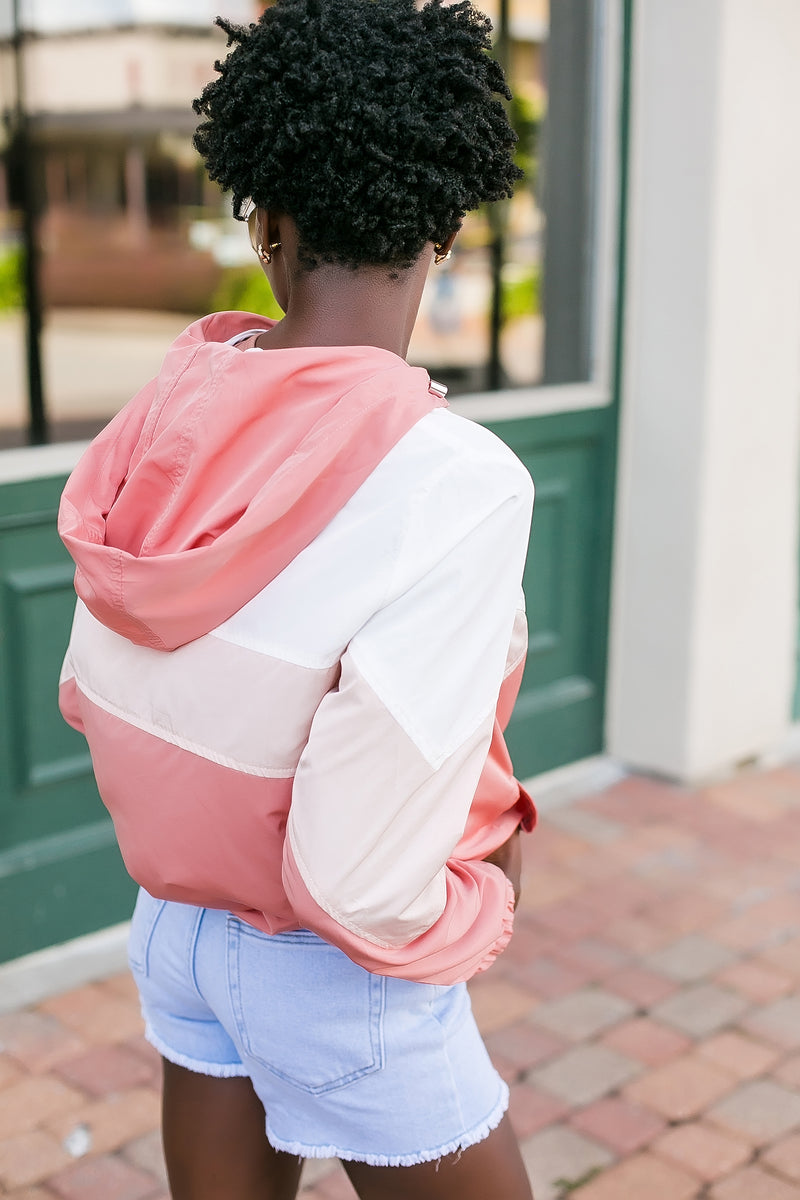 just peachy windbreaker jacket