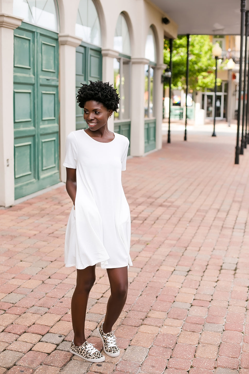 basic summertime dress (ivory)