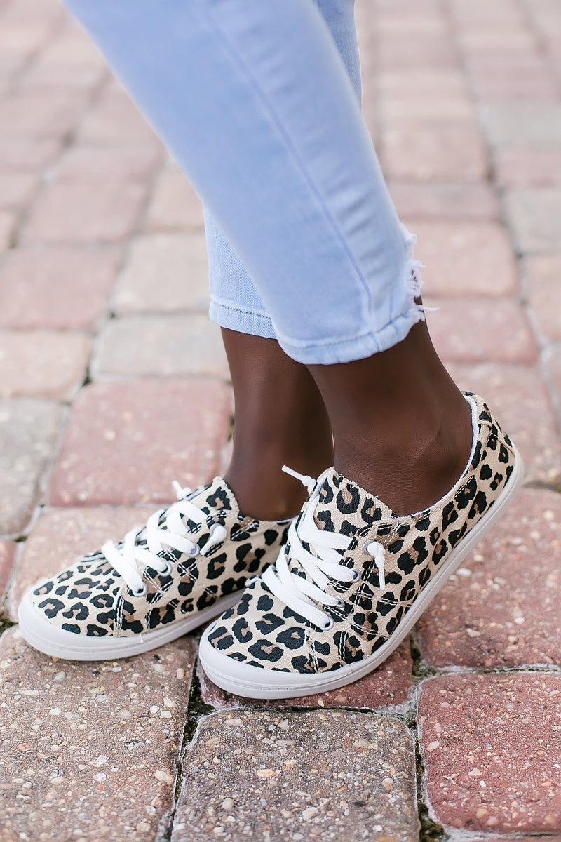 No ties leopard slip on sneakers