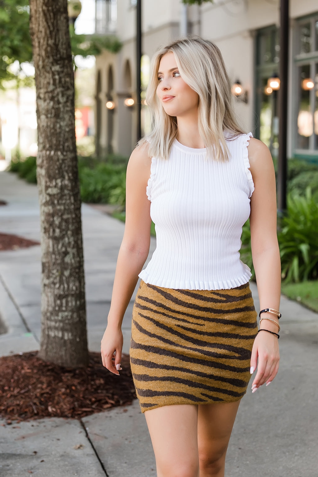 eye of the tiger sweater skirt
