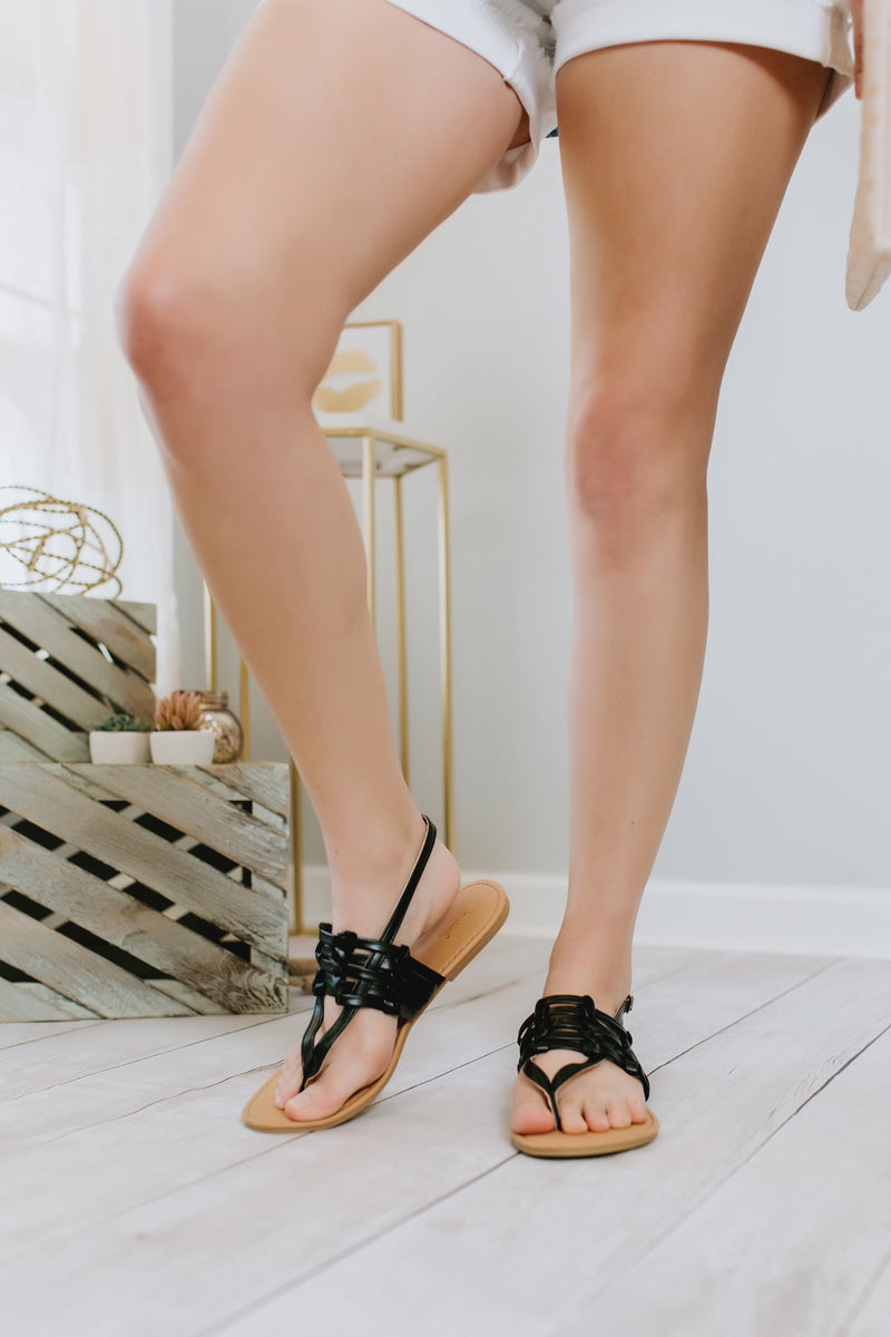 Cloud 9 sandals (black) - Marcella