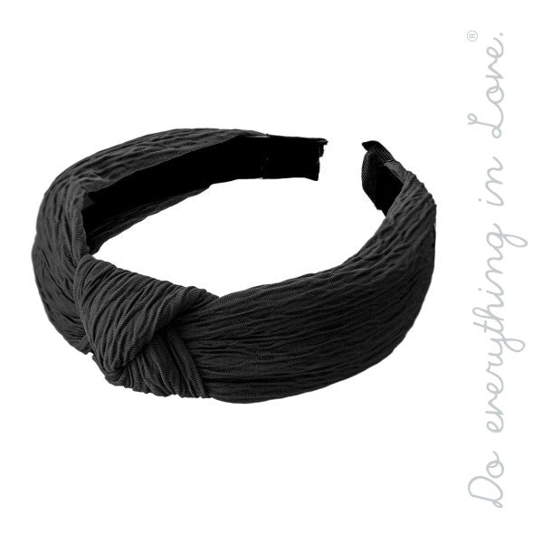 Knotted headband (black)
