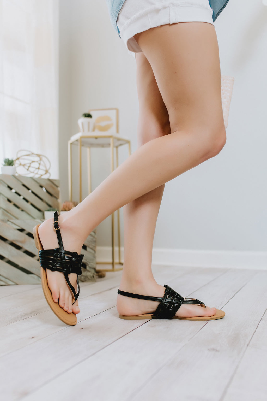 Cloud 9 sandals (black)