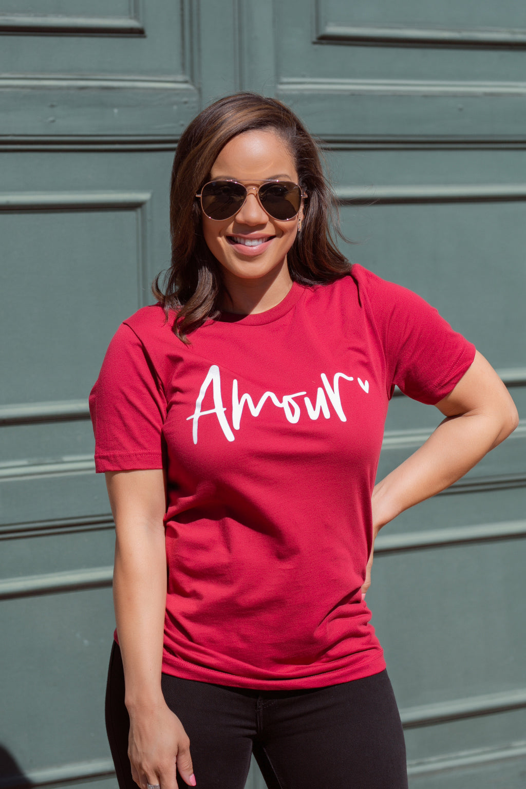 Amour Red Tee Shirt