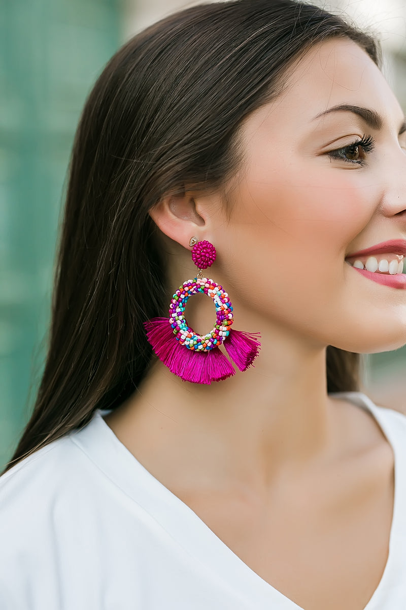 fiesta beaded earrings