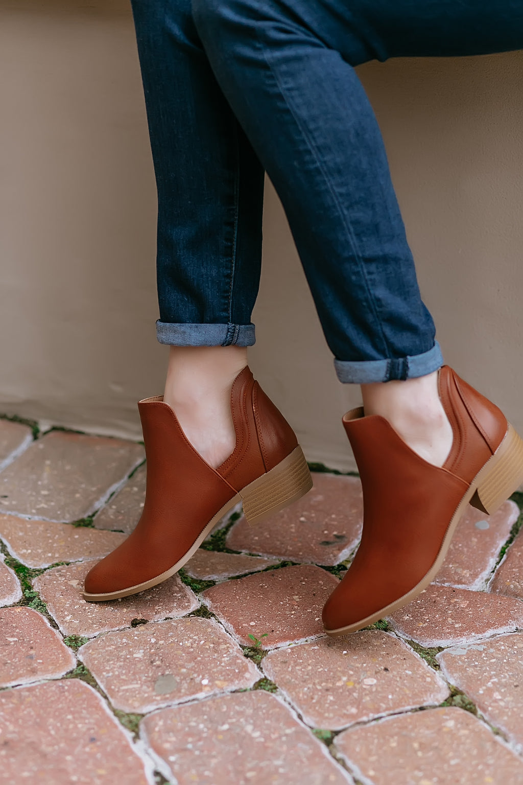 Cognac Booties - Marcella