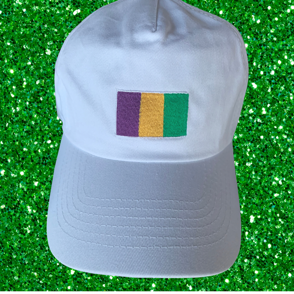 Mardi Gras Flag Hat