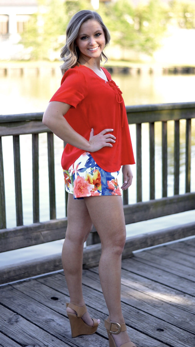 High and mighty shorts (floral) - Marcella