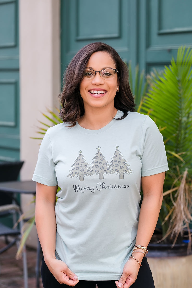 Leopard Christmas Tree Tee