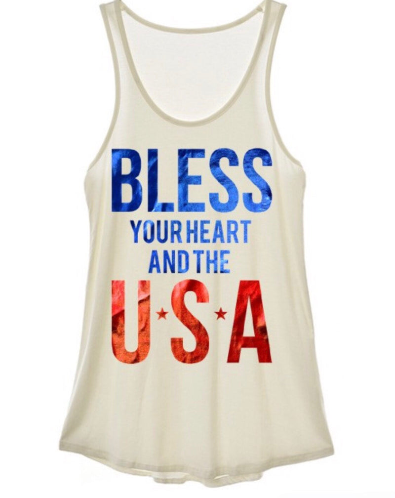 bless the USA tank - Marcella