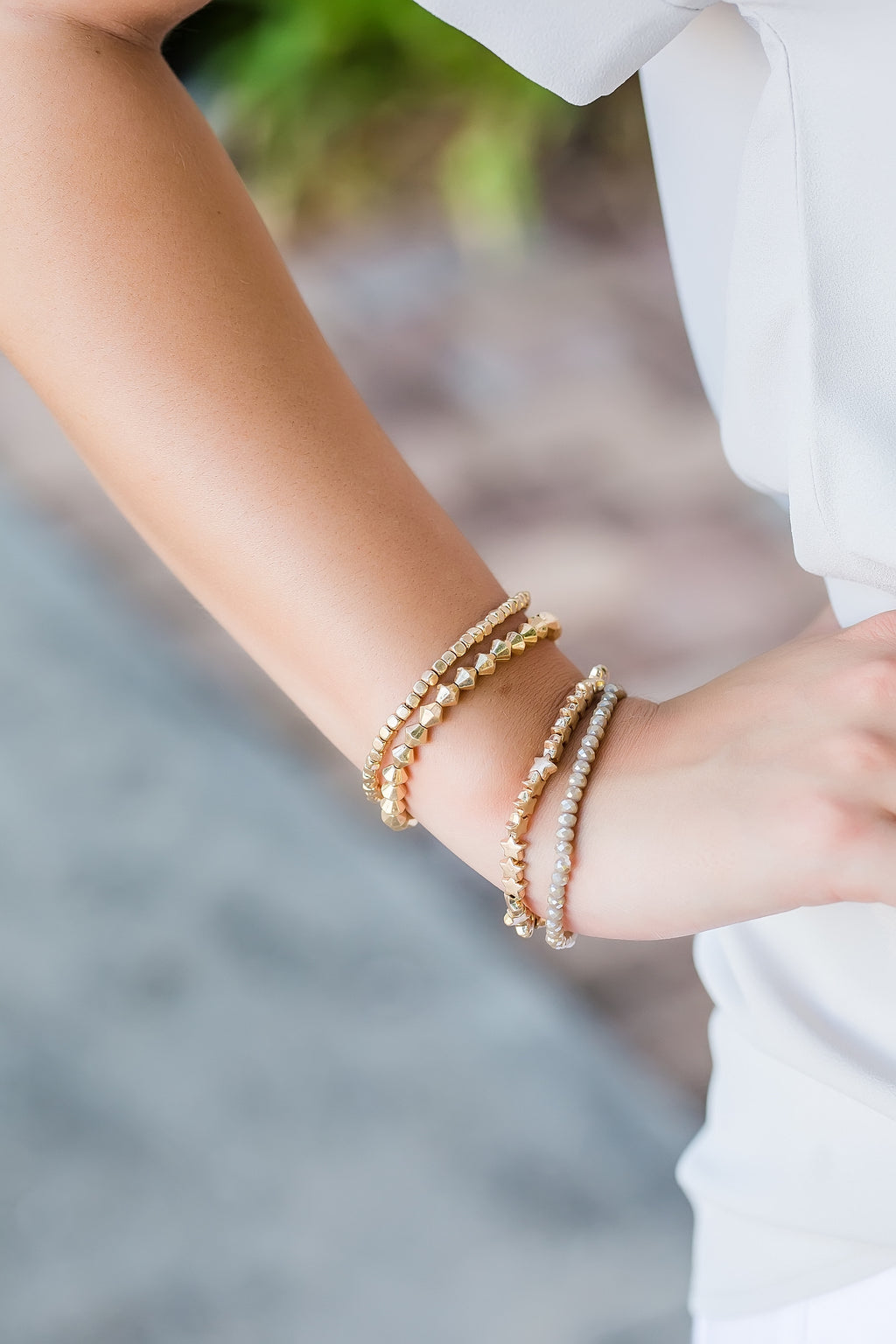 Shoot for the stars bracelet stack