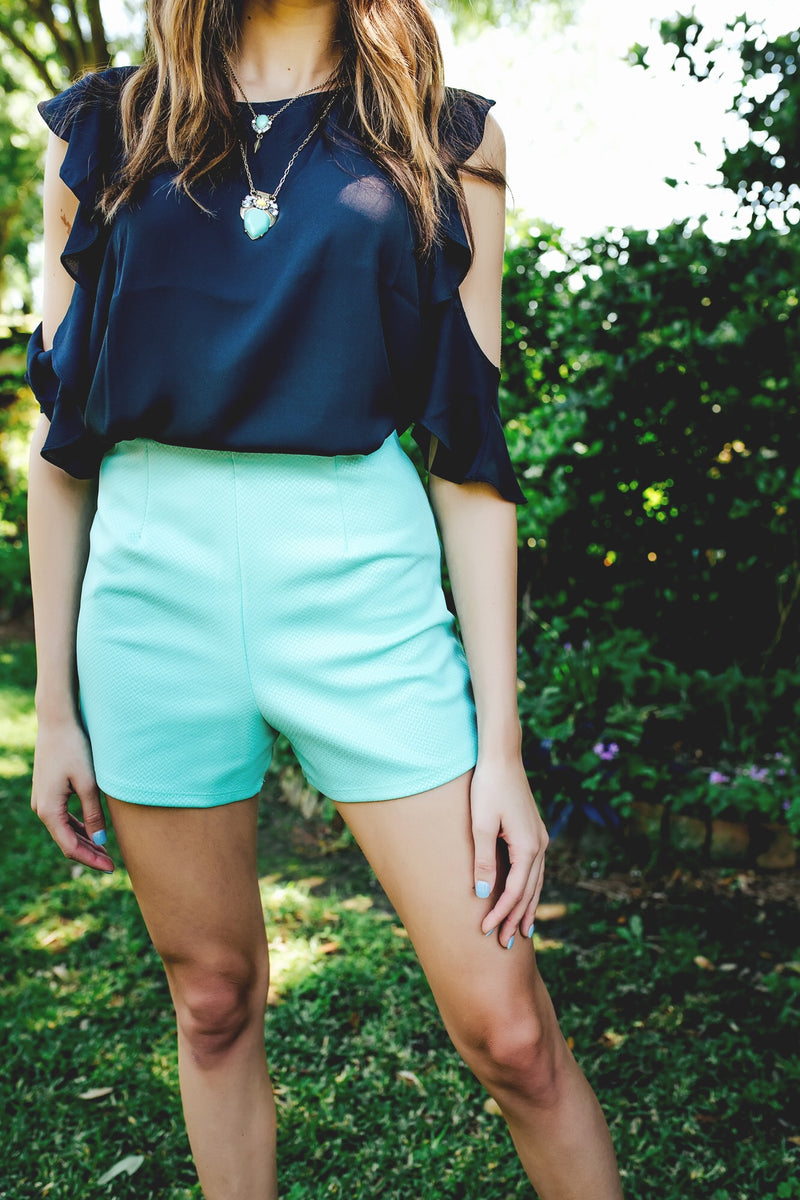 High and mighty shorts (mint) - Marcella
