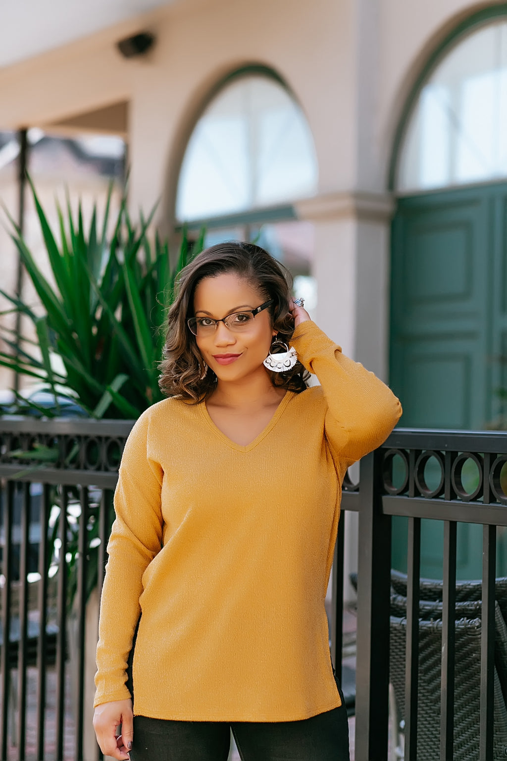 fireside nights sweater (mustard) - Marcella