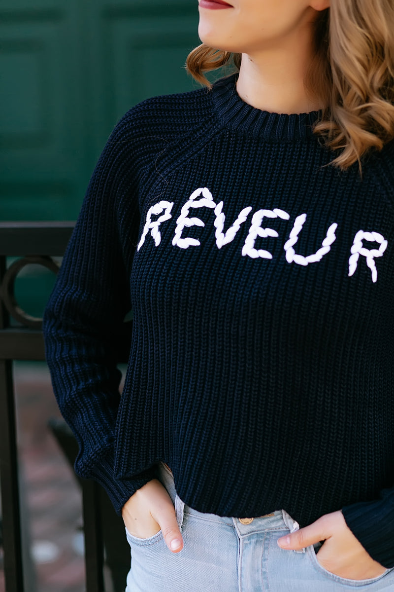 Dreamer Navy Sweater - Marcella