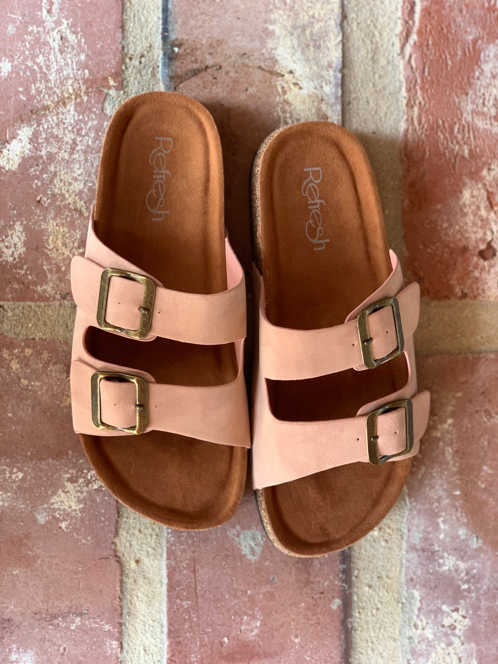 the new neutral double strap slides