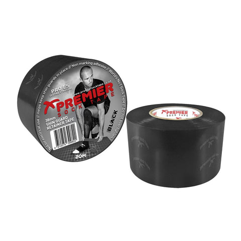 Premier Sock Tape 38mm Shin Guard Retainer Tape - Black