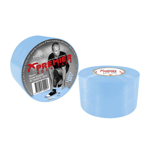 Premier Sock Tape 38mm Shin Guard Retainer Tape - Light Sky
