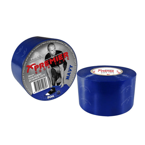Premier Sock Tape 38mm Shin Guard Retainer Tape - Navy