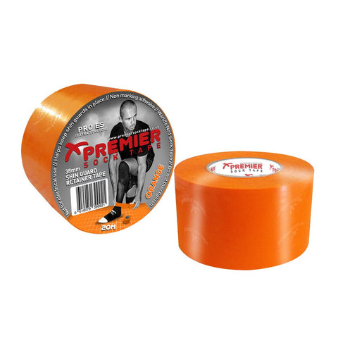 Premier Sock Tape 38mm Shin Guard Retainer Tape - Orange