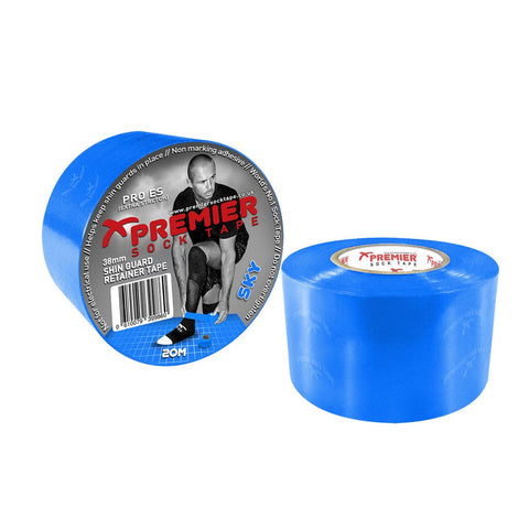 Premier Sock Tape 38mm Shin Guard Retainer Tape - Sky