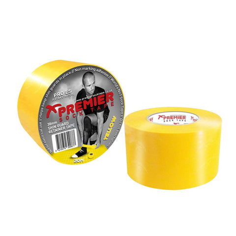 Premier Sock Tape 38mm Shin Guard Retainer Tape - Yellow