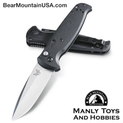 "Benchmade CLA Compact Lite Auto Knife Green/Black G-10 (3.4"" Satin) 4300-1 Bear Mountain Outfitters"