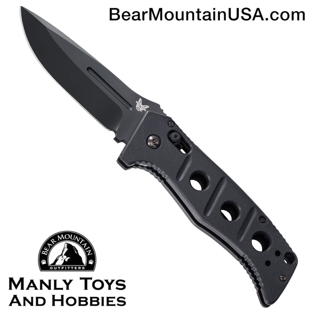 "Benchmade 2750 Adamas Automatic Knife w/ Black Handle (3.82"" Black) 2750BK"