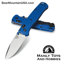 "Benchmade Bugout AXIS Lock Knife Blue (3.24"" Satin) 535 Bear Mountain Outfitters"