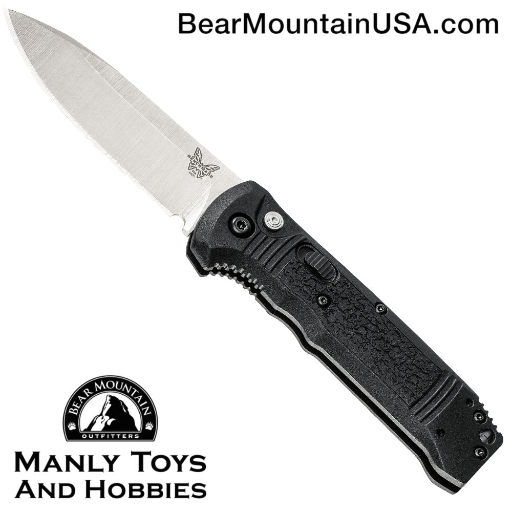 "Benchmade 4400 Casbah Automatic Knife Black Grivory (3.4"" Satin)"