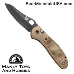 "Benchmade Griptilian AXIS Lock Knife Sand (3.45"" Black) 550BKHGSN"