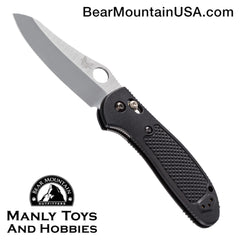 "Benchmade Griptilian AXIS Lock Knife Black (3.45"" Satin) 550HG"