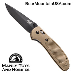 "Benchmade Griptilian AXIS Lock Knife Sand (3.45"" Black) 551BKSN"