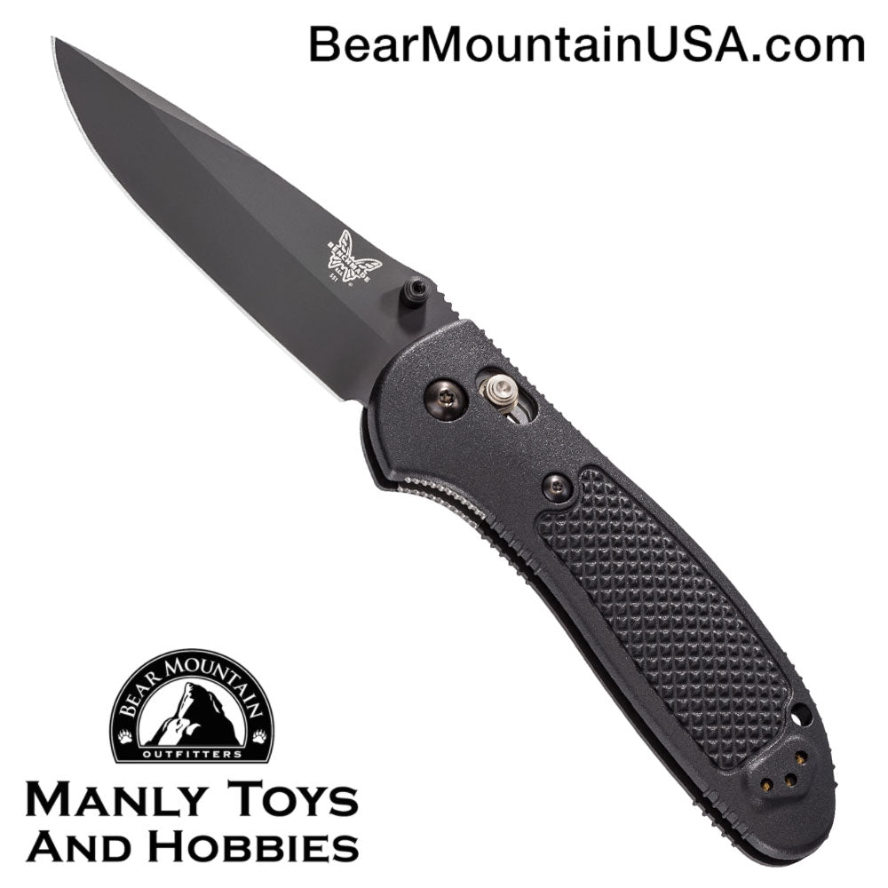 "Benchmade Griptilian AXIS Lock Knife Black (3.45"" Black) 551BK"