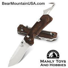 Benchmade Grizzly Creek Folder Wood AXIS Lock Knife w/ Gut Hook 15060-2 Bear Mountain Outfitters