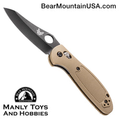 "Benchmade Mini Griptilian AXIS Lock Knife Sand (2.91"" Black) 555BKHGSN"