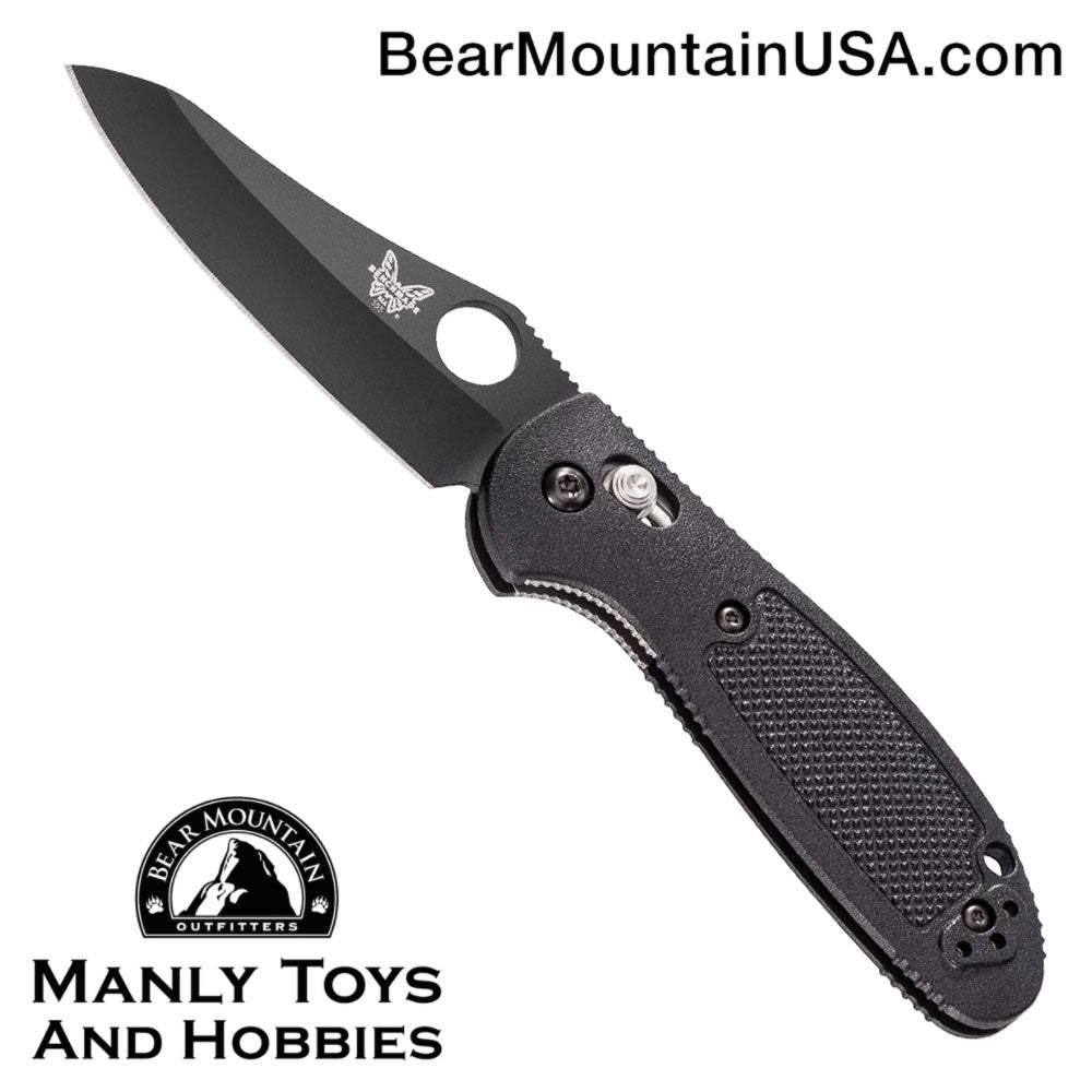 "Benchmade Mini Griptilian AXIS Lock Knife Black (2.91"" Black) 555BKHG"