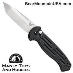 "Benchmade 9052 AFO II Tanto Automatic Knife (3.56"" Satin)"